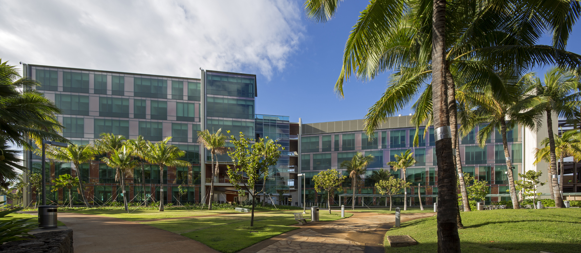 The University of Hawaii Cancer Center building in Kakaako