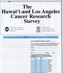 MEC Follow-up Questionnaire, Hawaii and California (English), 1999-2002